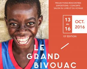 Affiche Grand Bivouac 2016 festival du voyage Albertville